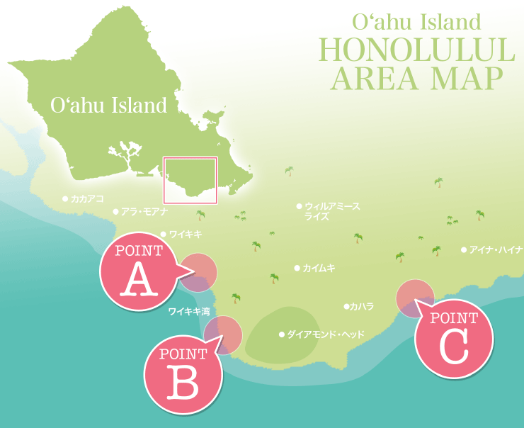 HONOLULUL AREA MAP