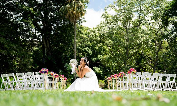 モアナルア・ガーデン挙式&ガーデンフォトプラン (午前プラン)《Hawaiian Style Ceremony》